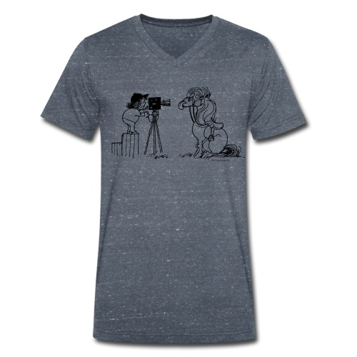 Thelwell Pony Fotoshooting Say cheese - Men's Organic V-Neck T-Shirt by Stanley & Stella