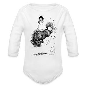 Thelwell Pony leap-frog - Organic Longsleeve Baby Bodysuit