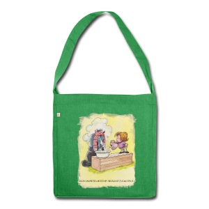 Thelwell Pony is rheumy - Shoulder Bag made from recycled material