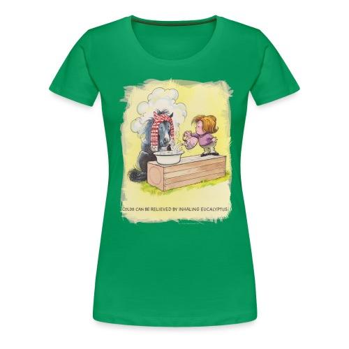 Thelwell Pony is rheumy - Frauen Premium T-Shirt