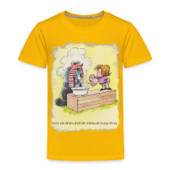 T-Shirts ~ Kinder Premium T-Shirt ~ Thelwell Pony is rheumy