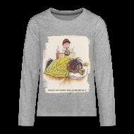 Long Sleeve Shirts ~ Teenagers' Premium Longsleeve Shirt ~ Thelwell Pony is sleeping