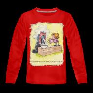 Long Sleeve Shirts ~ Teenagers' Premium Longsleeve Shirt ~ Thelwell Pony is rheumy