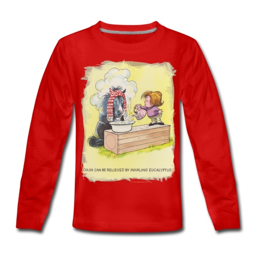 Thelwell Pony is rheumy - Teenagers' Premium Longsleeve Shirt