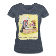 T-Shirts ~ Women's V-Neck T-Shirt ~ Thelwell Pony is rheumy