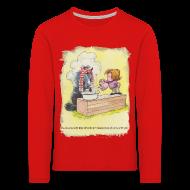 Long Sleeve Shirts ~ Kids' Premium Longsleeve Shirt ~ Thelwell Pony is rheumy