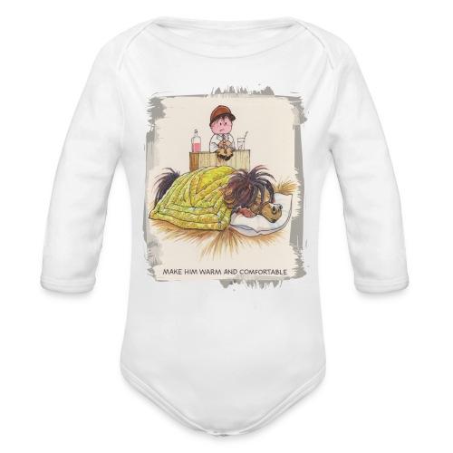 Thelwell Pony is sleeping - Organic Longsleeve Baby Bodysuit
