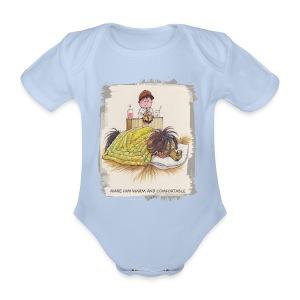Thelwell Pony is sleeping - Organic Short-sleeved Baby Bodysuit