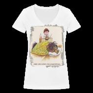 T-Shirts ~ Women's V-Neck T-Shirt ~ Thelwell Pony is sleeping