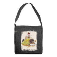 Bags & Backpacks ~ Shoulder Bag made from recycled material ~ Thelwell Pony is sleeping