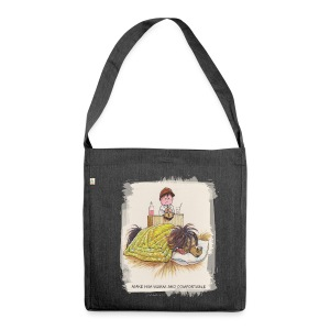 Thelwell Pony is sleeping - Shoulder Bag made from recycled material