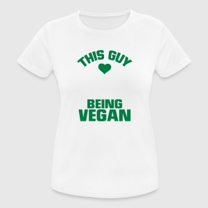 THIS GUY HERE IS A VEGAN! Sports wear - Women's Breathable T-Shirt