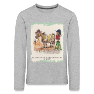 Long Sleeve Shirts ~ Kids' Premium Longsleeve Shirt ~ Thelwell Pony with hairdresser