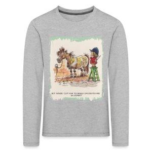 Thelwell Pony with hairdresser - Kids' Premium Longsleeve Shirt