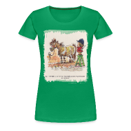 T-Shirts ~ Frauen Premium T-Shirt ~ Thelwell Pony with hairdresser