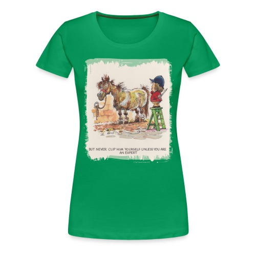 Thelwell Pony with hairdresser - Frauen Premium T-Shirt