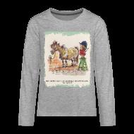 Long Sleeve Shirts ~ Teenagers' Premium Longsleeve Shirt ~ Thelwell Pony with hairdresser