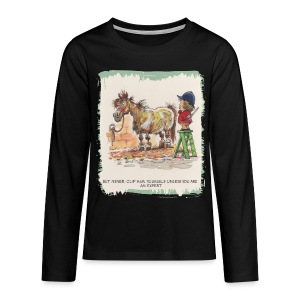 Thelwell Pony with hairdresser - Teenagers' Premium Longsleeve Shirt