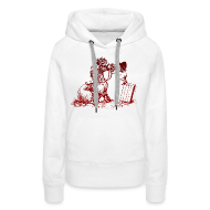 Hoodies & Sweatshirts ~ Women's Premium Hoodie ~ Thelwell Pony with dentist