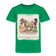 T-Shirts ~ Kinder Premium T-Shirt ~ Thelwell Pony with hairdresser