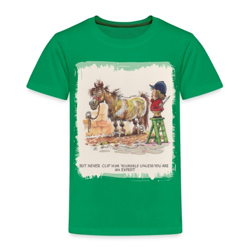 Thelwell Pony with hairdresser - Kinder Premium T-Shirt