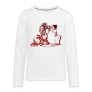 Long Sleeve Shirts ~ Teenagers' Premium Longsleeve Shirt ~ Thelwell Pony with dentist