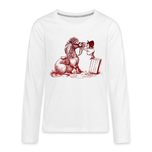 Thelwell Pony with dentist - Teenagers' Premium Longsleeve Shirt