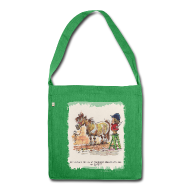 Bags & Backpacks ~ Shoulder Bag made from recycled material ~ Thelwell Pony with hairdresser