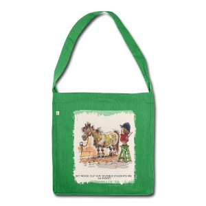 Thelwell Pony with hairdresser - Shoulder Bag made from recycled material