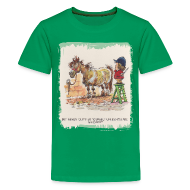 T-Shirts ~ Teenager Premium T-Shirt ~ Thelwell Pony with hairdresser