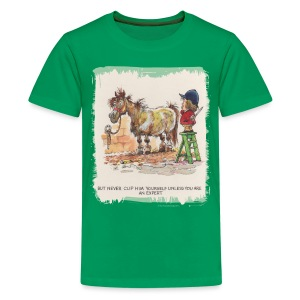 Thelwell Pony with hairdresser - Teenage Premium T-Shirt