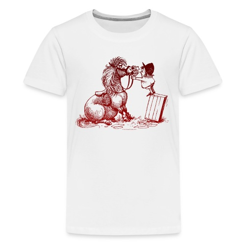 Thelwell Pony with dentist - Teenage Premium T-Shirt