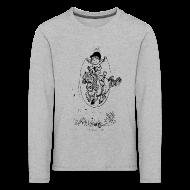 Long Sleeve Shirts ~ Kids' Premium Longsleeve Shirt ~ Thelwell Pony with skipping rope