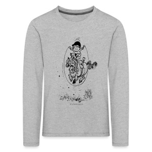 Thelwell Pony with skipping rope - Kids' Premium Longsleeve Shirt