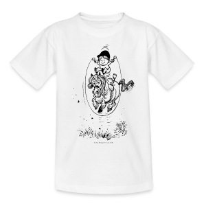 Thelwell Pony with skipping rope - Teenager T-Shirt