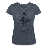 T-Shirts ~ Women's V-Neck T-Shirt ~ Thelwell Pony with skipping rope