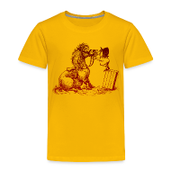 T-Shirts ~ Kinder Premium T-Shirt ~ Thelwell Pony with dentist