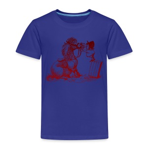 Thelwell Pony with dentist - Kids' Premium T-Shirt