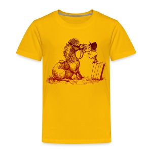 Thelwell Pony with dentist - Kinder Premium T-Shirt