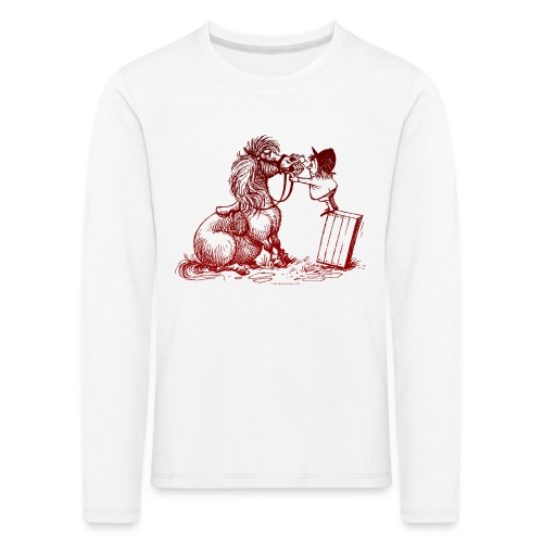 Thelwell Pony with dentist - Kids' Premium Longsleeve Shirt