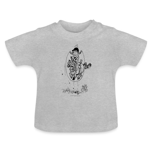 Thelwell Pony with skipping rope - Baby T-Shirt