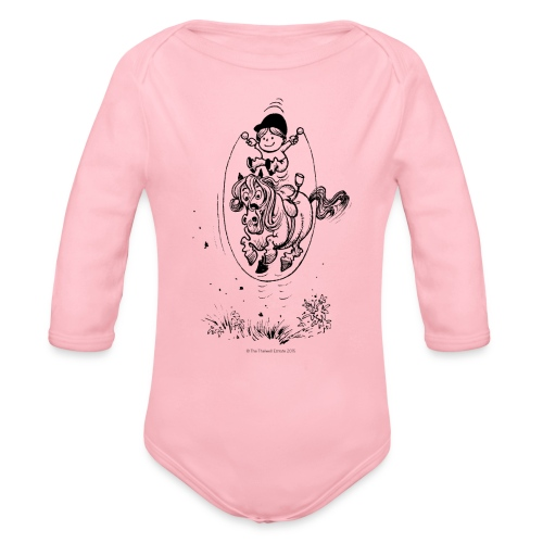 Thelwell Pony with skipping rope - Organic Longsleeve Baby Bodysuit