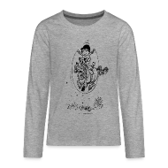 Long Sleeve Shirts ~ Teenagers' Premium Longsleeve Shirt ~ Thelwell Pony with skipping rope