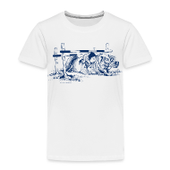 T-Shirts ~ Kinder Premium T-Shirt ~ Thelwell Pony under oxer