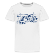 T-Shirts ~ Teenager Premium T-Shirt ~ Thelwell Pony under oxer