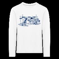 Long Sleeve Shirts ~ Kids' Premium Longsleeve Shirt ~ Thelwell Pony under oxer