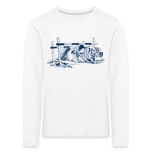 Thelwell Pony under oxer - Kids' Premium Longsleeve Shirt