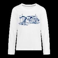 Long Sleeve Shirts ~ Teenagers' Premium Longsleeve Shirt ~ Thelwell Pony under oxer