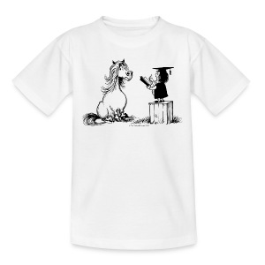 Thelwell Pony learning at school - Kinder T-Shirt