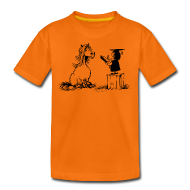 T-Shirts ~ Teenager Premium T-Shirt ~ Thelwell Pony learning at school